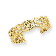 14k Yellow Gold Celtic Knot Toe Ring