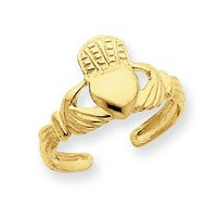 14k Yellow Gold Claddagh Toe Ring