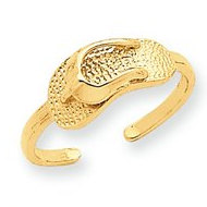 14k Yellow Gold Sandal Toe Ring