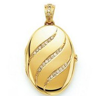 Victor Mayer 18K Gold Diamond Locket