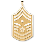 Unites States Air Force Senior Master Sergeant Note Diamond  Pendant