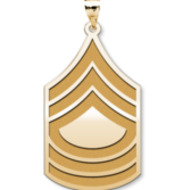 US Army National Guard Master Sergeant Pendant