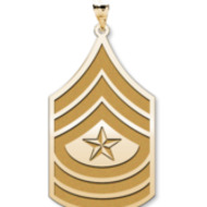 US Army National Guard Sergeant Major Pendant