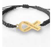 Imagine a World Without Cancer  Childhood Cancer Bracelet