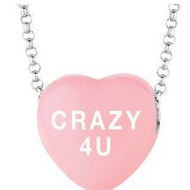 Sweethearts Enamel  Crazy 4 U  16  Necklace with Gift Box
