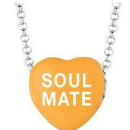 Sweethearts Enamel  Soul Mate  16  Necklace with Gift Box