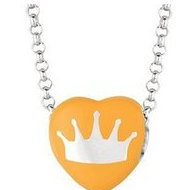 Sweethearts Enamel  Crown  16  Necklace with Gift Box