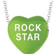 Sweethearts Enamel  Rock Star  16  Necklace with Gift Box