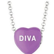 Sweethearts Enamel  Diva  16  Necklace with Gift Box