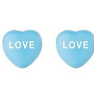 Sweethearts Enamel  Love  Heart Shaped Sterling Silver Earrings