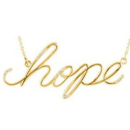 14K Gold  Hope  Diamond necklace