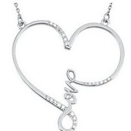 Heart Diamond  Love  Pendant