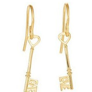 Love Is Key Earrings