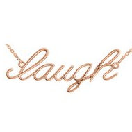 14K Gold  Laugh  necklace