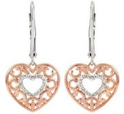 1 10 ct tw Diamond Lever Back Earrings