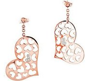 025 ct tw Diamond Heart Earrings