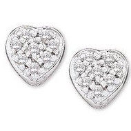 Diamond Heart Earring