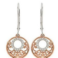 1 8 ct tw Diamond Lever Back Earrings