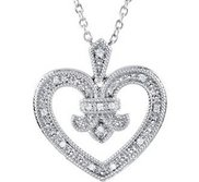 Diamond Heart Design Pendant