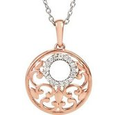 Diamond Round Pendant