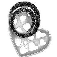 Genuine Black Spinel Heart Pendant