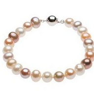 Freshwater Cultured Multi Color Pearl Strand