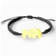 14K Solid Gold Autism Awareness Bracelet