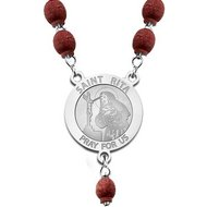 Sterling Silver Saint Rita Rosary Beads  EXCLUSIVE