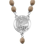 Saint Cecilia Rosary Beads  EXCLUSIVE