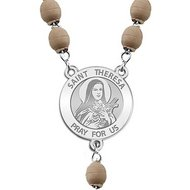 Saint Theresa of Liseux Rosary Beads  EXCLUSIVE