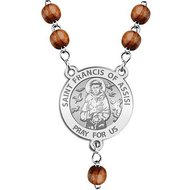 Saint Francis of Assisi Rosary Beads  EXCLUSIVE