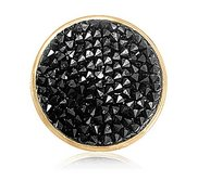 Nikki Lissoni Gold tone 1 1 4 Inch  Black Rock Swarovski Element Coin