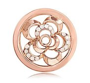 Nikki Lissoni Rose tone 1 Inch White Swarovski Surprising Poppy Coin