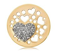 Nikki Lissoni Gold tone 1 1 4 Inch Swarovski Elements Wicked Love Coin