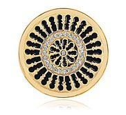 Nikki Lissoni Gold tone 1 1 4 Inch Clear Swarovski Marrakech Coin