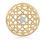 Nikki Lissoni Gold tone 1 3 4 Inch Center Star Coin