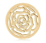 Nikki Lissoni Gold tone 1 1 4 Inch  Roses are Red    Coin
