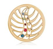 Nikki Lissoni Gold tone 1 1 4 Inch Multicolor Swarovski Heavenly Light