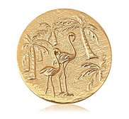 Nikki Lissoni Gold tone 1 3 4 Inch 2 Sided Miami   South Beach Coin