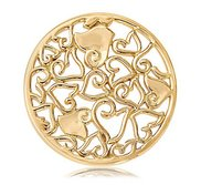 Nikki Lissoni Gold tone 1 1 4 Inch Baroque Hearts Coin