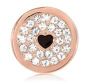 Nikki Lissoni Rose tone 1 Inch Clear Swarovski Elements You make my