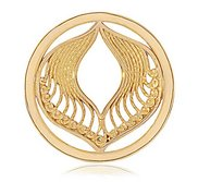 Nikki Lissoni Gold tone 1 1 4 Inch Protection Coin