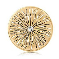Nikki Lissoni Gold tone 1 3 4 Inch Youre my target Coin