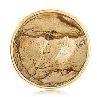 Nikki Lissoni Gold tone 1 1 4 Inch Faceted Picture Jasper Coin