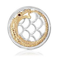 Nikki Lissoni Two tone 1 1 4 Inch Chinese Dragon Coin