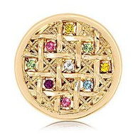 Nikki Lissoni Gold tone 1 1 4 Inch Multicolor Swarovski Elements Color