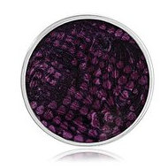 Nikki Lissoni Silver tone 1 1 4 Inch Enamel Overlay PurplePrint Coin
