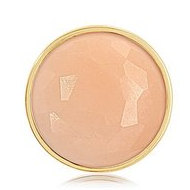 Nikki Lissoni Gold tone 1 1 4 Inch Faceted Peach Coin