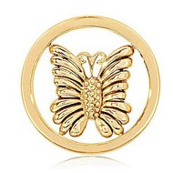 Nikki Lissoni Gold tone 1 Inch Little Butterfly Coin