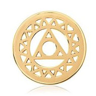 Nikki Lissoni Gold tone 1 Inch Magic Triangle Coin